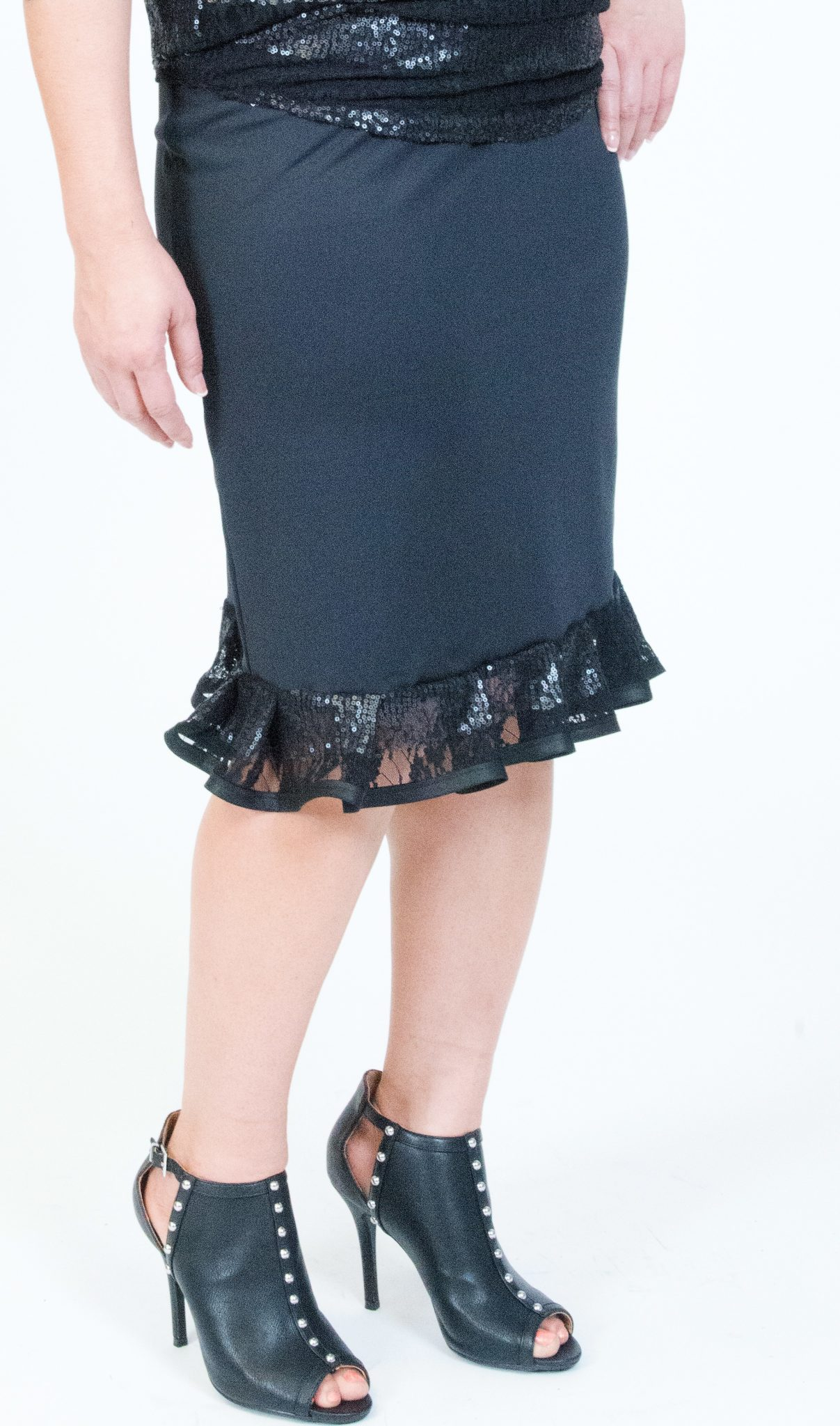 Pencil Skirt With Ruffle 17